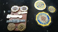 WW11 AMERICAN LEGION VETERANS OF FOREIGN WARS NRA TIE CLIPS BUTTONS PINS BXJ#12