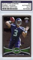 Russell Wilson Autographed 2012 Topps Chrome Rookie Card #40 PSA/DNA #83760840
