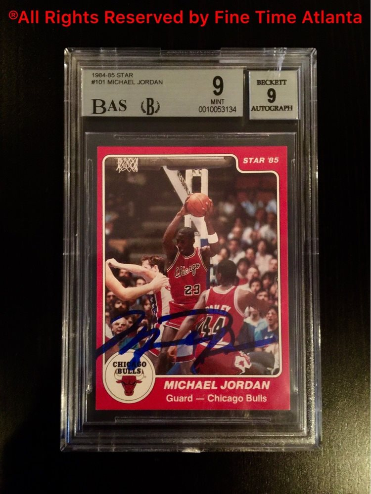 1984 85 Star Michael Jordan Rc Rookie Card 101 Bgs 9 Mint Auto Fleer Psa 10