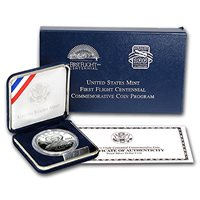 2003 P First Flight Centennial $1 Silver Commem Prf (w/Box & COA) Cent Brilliant Uncirculated