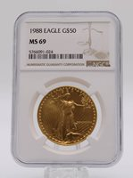 1988 NGC MS69 $50 Gold American Eagle