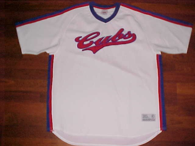 new products 1f636 b8002 True Fan MLB NL Chicago Cubs Scripted White Red Blue Pullover Baseball  Jersey XL