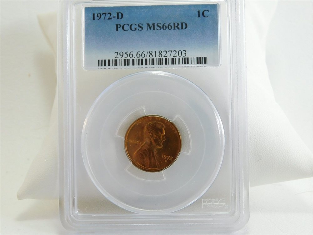 1972-D PCGS MS66RD UNC Penny 1C Lincoln Memorial Cent Coin