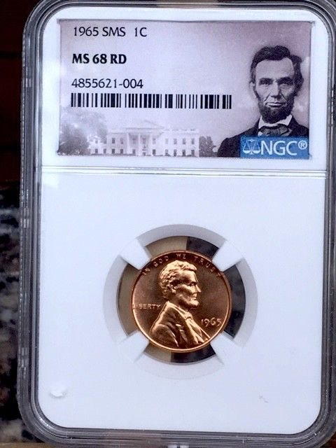 1965 Lincoln Cent NGC SMS 68 Red * Price Guide $1,000 - Rare! *, NGC