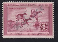 US RW2 $1 Duck Hunting Used VF SCV $160