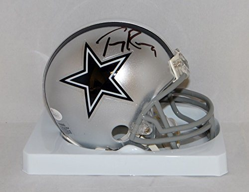 on sale 86a83 18216 Tony Romo Autographed Dallas Cowboys Mini Helmet- JSA Witnessed Auth