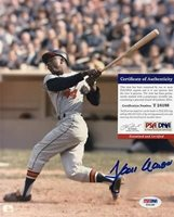 HANK AARON SIGNED 8X10 PHOTO SIGNED PSA AUTHENTIC T24186 ATLANTA BRAVES AUTO