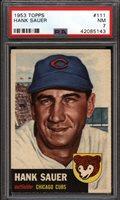 1953 Topps # 111 SAUER Cubs PSA 7