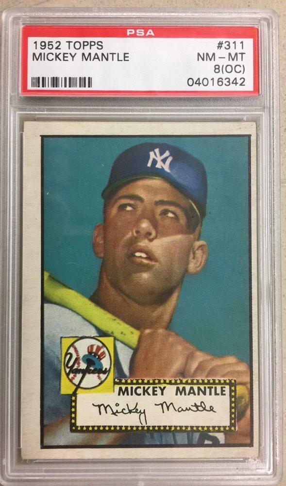 Beautiful 1952 Topps Mickey Mantle 311 Psa 8 Nm Mt Mint Baseball Card