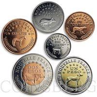 Kingdom of Araucanía and Patagonia, set of six coins, Fauna, Animals, 2013
