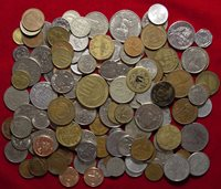 Lot Of 139 World Coins, 59 Different Countries, No 2 Alike - L@@K