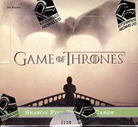 2016 Rittenhouse 'Game of Thrones' Season 5 Trading Cards box