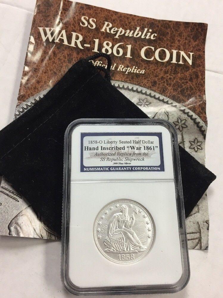 1858-O Liberty Seated Silver Half Dollar PCGS EF45
