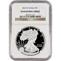 2014 W American Silver Eagle Proof $1 PF69 UCAM NGC