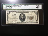 National Bank Note Yonkers New York PMG 25 Vf