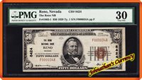 JC&C -RARE- Fr.1803-1 1929 $50 The Reno NB Reno , Nevada #8424