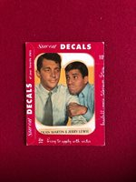 "1952, Dean Martin / Jerry Lewis, ""Un-Opened"" Star-Cal Decal (Scarce / Vintage)"