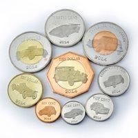 Saint Eustatius, set of 8 coins, Auto, Cars, Automobiles, Vehicles bimetal 2014