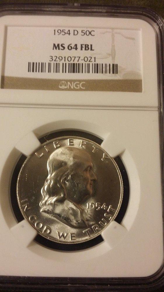 1954 D Franklin Silver Half Dollar NGC MS64