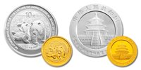China 2010 Panda 1 oz Silver and 1/4 oz Gold 2-Coin Set - Agricultural Bank of China Co. Ltd.