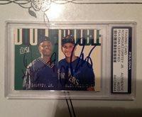 HOF Ken Griffey Jr / Alex Rodriguez signed card PSA