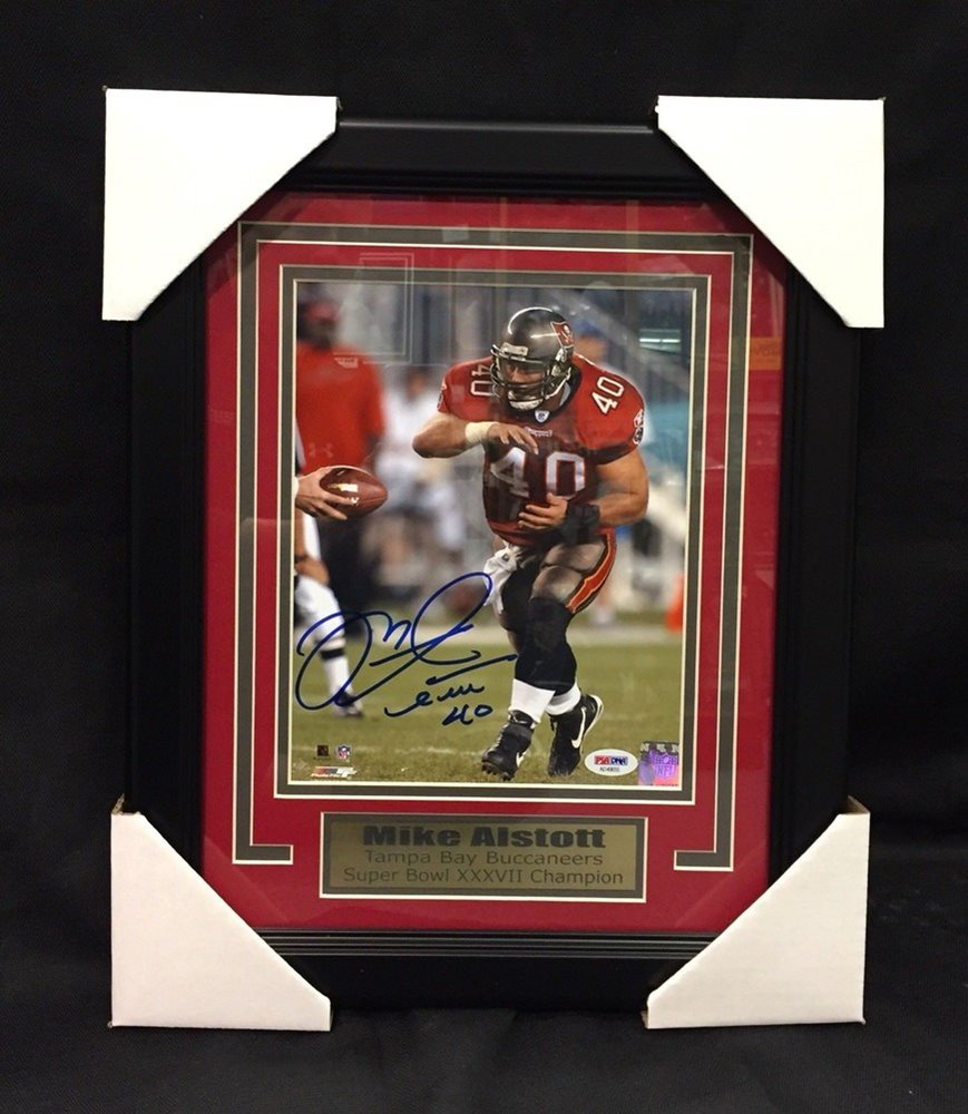 low priced 714d7 4173b Mike Alstott Signed Autograph 8x10 Framed Photo Tampa Bay Bucs Sports  Memorabilia PSA/DNA Certificate of Authenticity Included