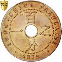 Indochine, 1 Cent, 1938 A, PCGS AU Details