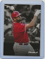 2019 Topps On Demand SET 1 ALBERT PUJOLS BLACK WHITE BACKGROUND COLOR FRONT 1/10