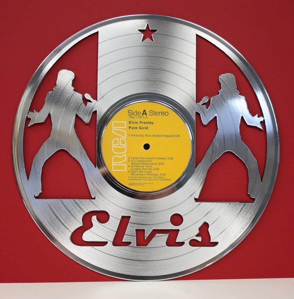 Elvis Presley Laser Cut Platinum LP Record Limited Edit