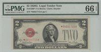 1928G* $2 Legal Tender Star Note PMG 66 Gem Unc EPQ *A Block