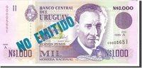 1000 Nuevos Pesos 1989 Uruguay Banknote, Undated, Km:67a
