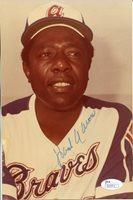 Hank Aaron Autographed 8x10 Atlanta Braves