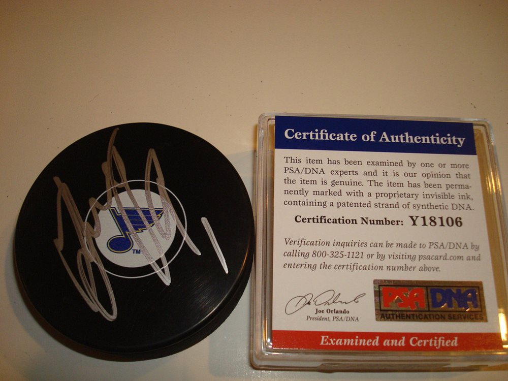 Autographed Signed Vladimir Tarasenko St Certified Authentic Louis Blues Hockey Puck