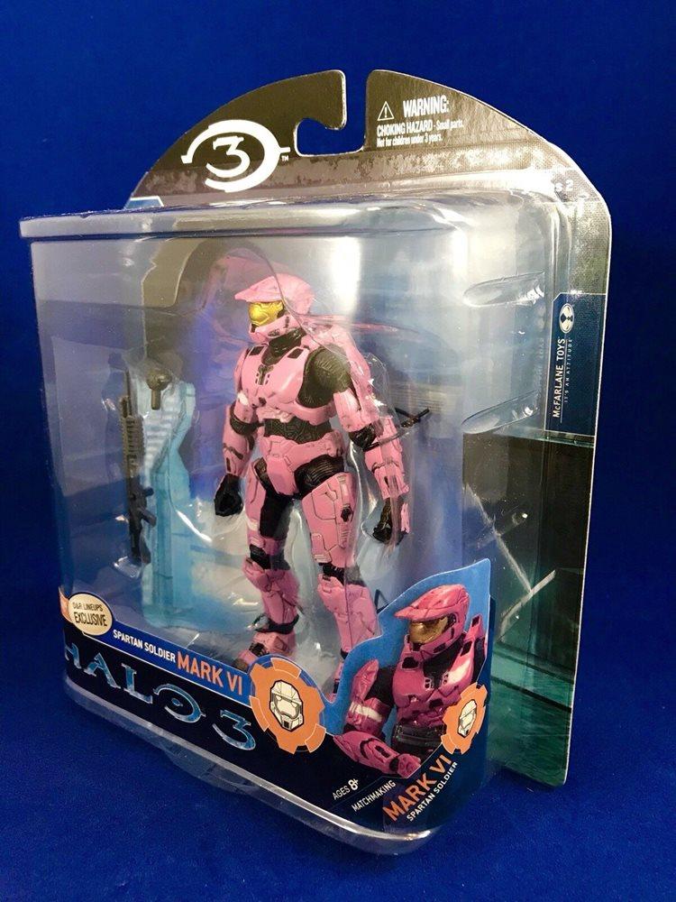 McFarlane Halo 3 Set Of 3 PINK D/&R Lineups Exclusives Mark VI,EVA /& Hayabusa