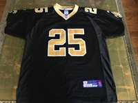 Mens Black Gold Saints Jersey  25 ROK 50 Football NFL Reggie Bush XL New  Orleans d3637017d