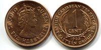 "British Caribbean Territories 1 Cent 1965 New (CU)Other Caribbean Islands Currency Queen Elizabeth IICoin 1\"" Diameter"