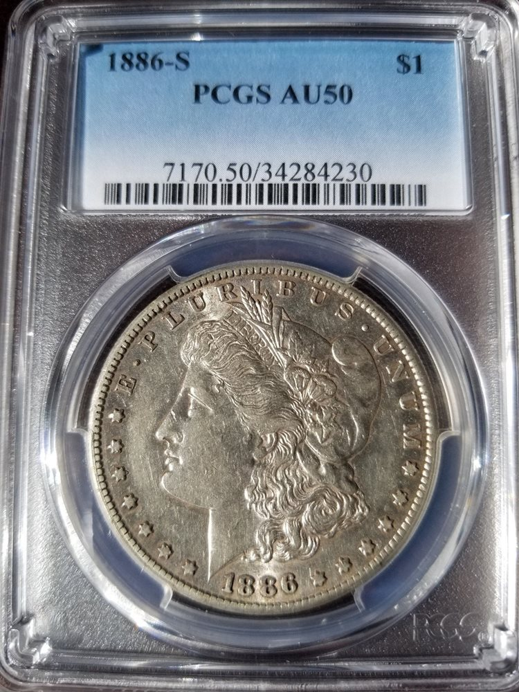 1886-S Morgan Dollar AU50 PCGS