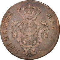 Azores, Maria I, 20 Reis, 1795, VF(30-35), Copper, KM:3