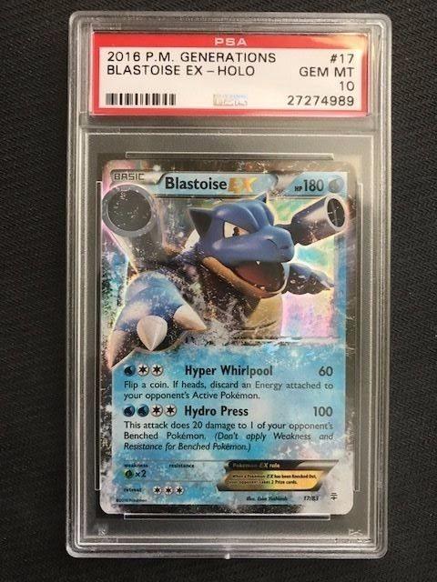 Generations 17//83 Blastoise EX Rare Holo NM Pokemon Card