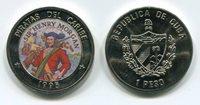 CUBA 1995 Pirates/Caribbean Henry Morgan 1 Peso UNC