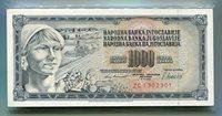 Yugoslavia P 92 ZA - 1981 - 1000 Dinaras Replacement Note x 50 Notes - HALF Bundle