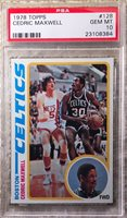 1978 TOPPS CEDRIC MAXWELL RC PSA 10 POP 30 2 TIME CELTIC CHAMP 1981 FINALS MVP