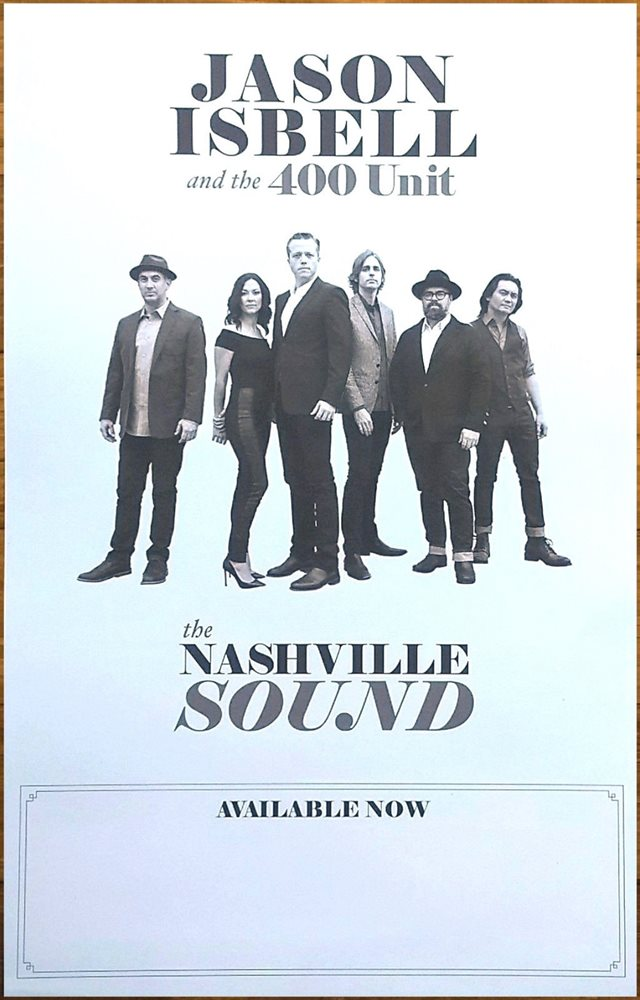 JASON ISBELL AND THE 400 UNIT Live From The Ryman 2018 Ltd Ed New RARE Poster!