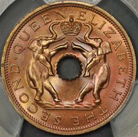 1962 PCGS MS67RD RHODESIA AND NYASALAND PENNY