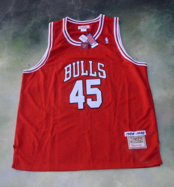 separation shoes bd189 50b42 Vintage Mitchell & Ness NBA Chicago Bulls Michael Jordan #45 Jersey Size 58.