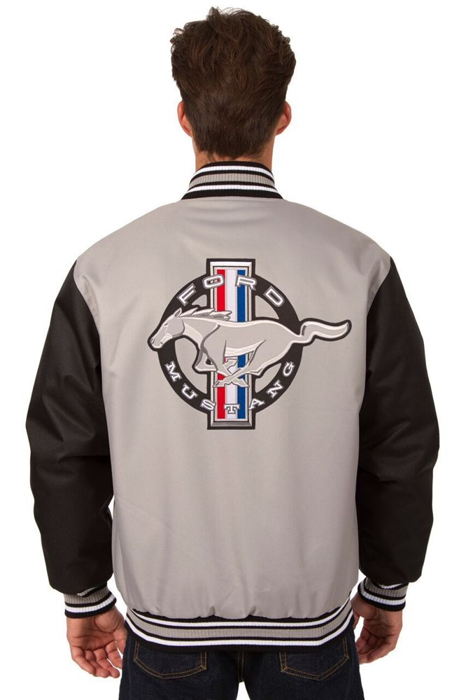 promo code 0884a acfe4 OFFICIAL FORD MUSTANG RACING JH DESIGN POLY TWILL JACKET BNWT P03 BSC7  GRY-BLK