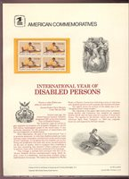 1925 18c Disabled Persons USPS Cat. #146 Commemorative Panel[cp146]