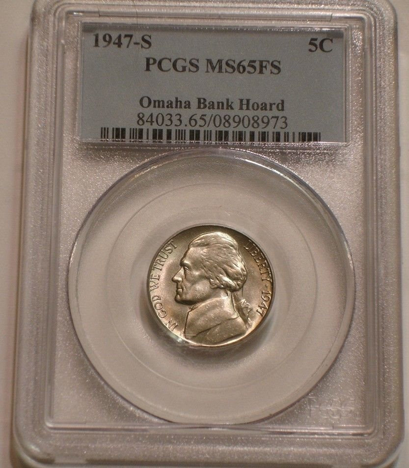 PCGS MS-65 1947 Jefferson Nickel Coin *PRICE FOR ONE COIN ONLY*