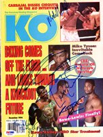 Boxing Greats Autographed KO Boxing Magazine Cover Including Mike Tyson & Riddick Bowe PSA/DNA #S01524Boxing Greats Autographed KO Boxing Magazine Cover Including Mike Tyson & Riddick Bowe PSA/DNA #S01524