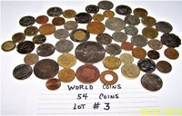 World Coins Lot #3 Lot of 54 different world coins 9.8 oz. As Pictured